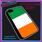 FITS IPHONE 4 / 4S PHONE IRELAND IRISH FLAG EMBLEM PLASTIC COVER
